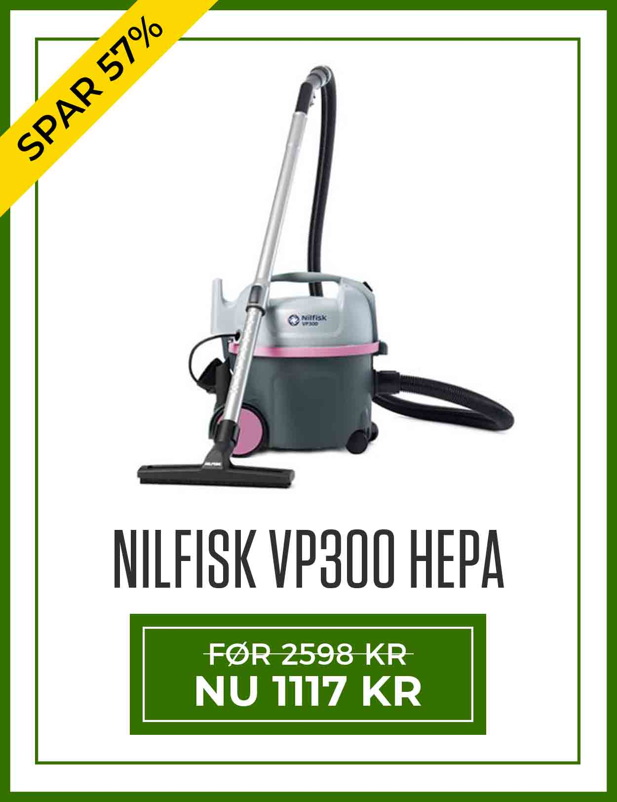 Tilbud på Nilfisk Støvsuger VP300 HEPA NORDIC PINK